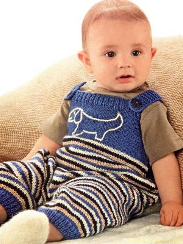 Вязание комбинезона для мальчиков спицами
