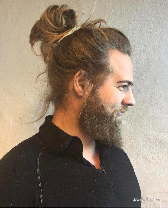 Модные мужские стрижки 2017 на длинные волосы