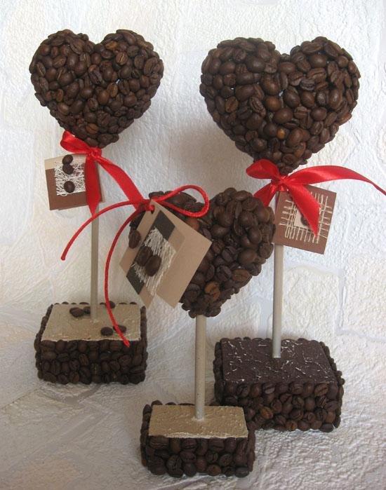 Подарок из кофейных зерен своими руками 16