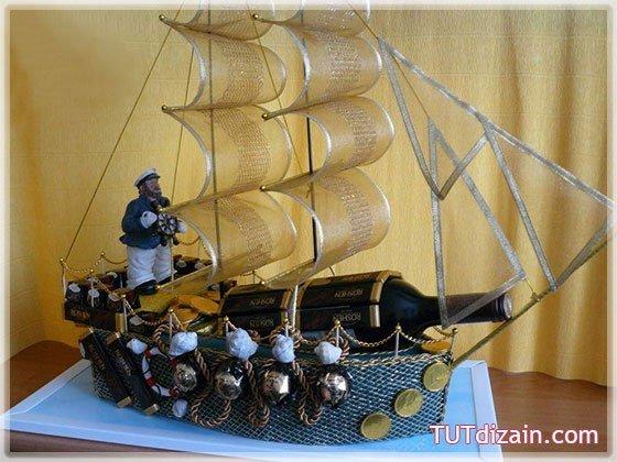 Букет из конфет корабль своими руками мастер класс