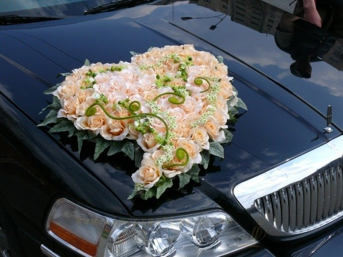 Украшения из цветов на свадебную машину своими руками мастер класс 17
