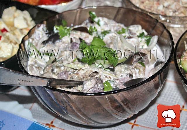 Салат грузинский с баклажанами рецепт