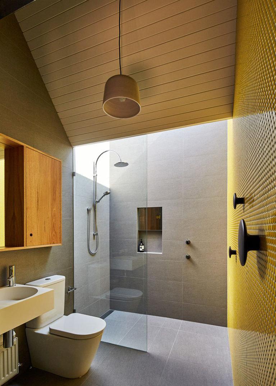 Дизайн ванной комнаты с нишей