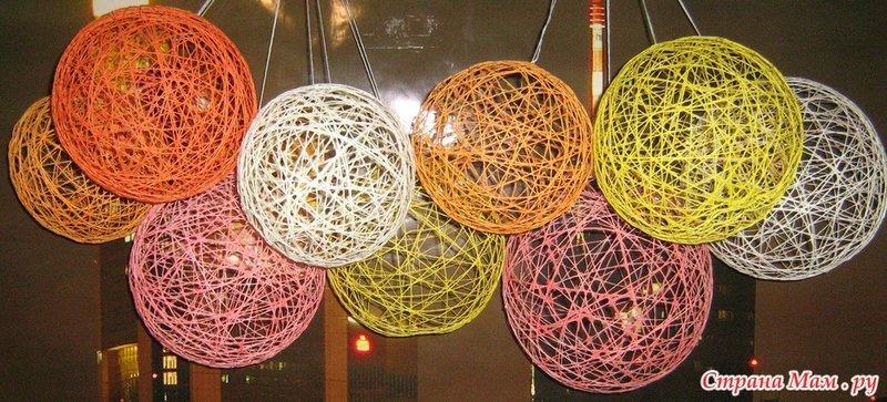 Как сделать шар из ниток и шарика