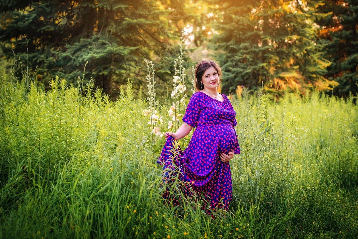 Беременная в лесу фото 12