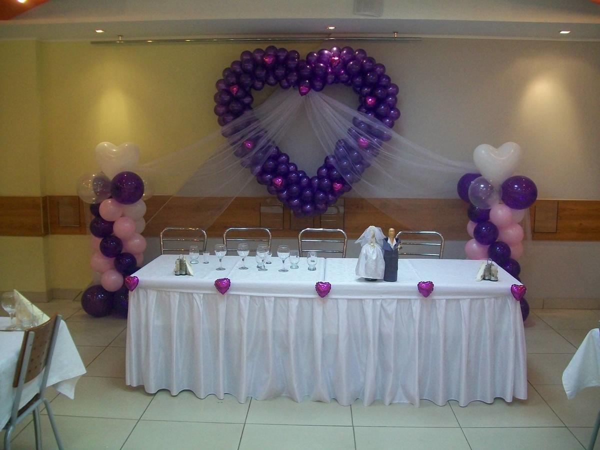 Свадебное украшение зала фото шарами