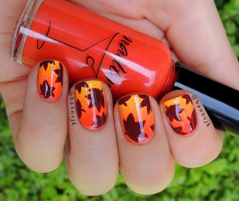 Рисунки ногтей на осень