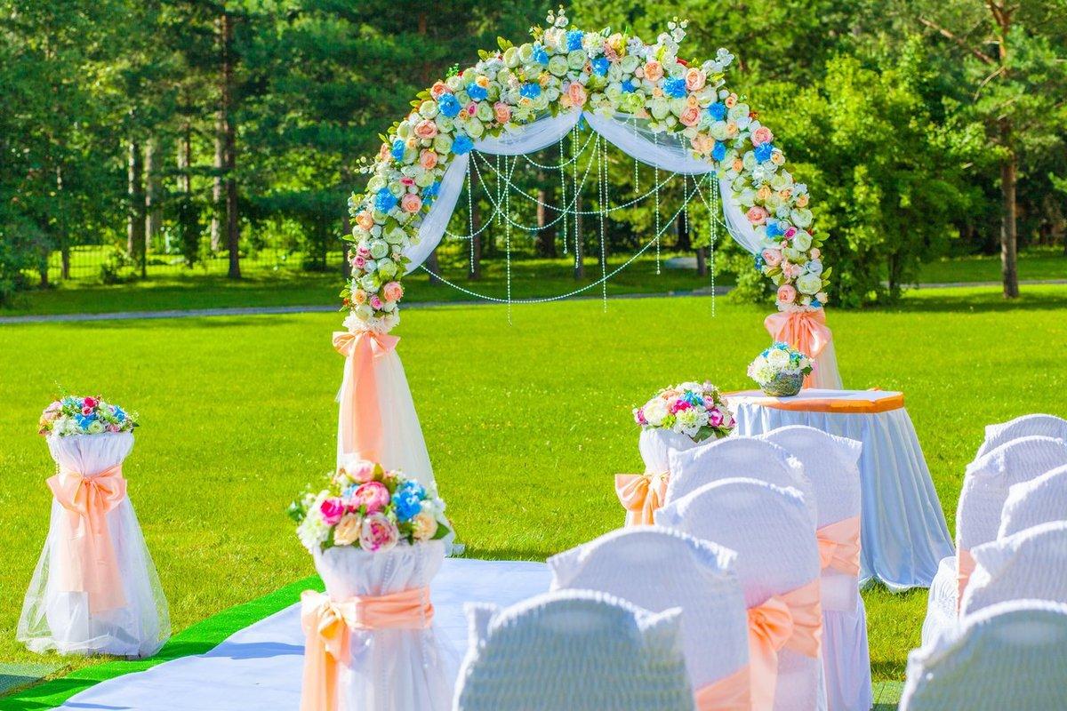 Варианты оформления свадьбы на природе фото