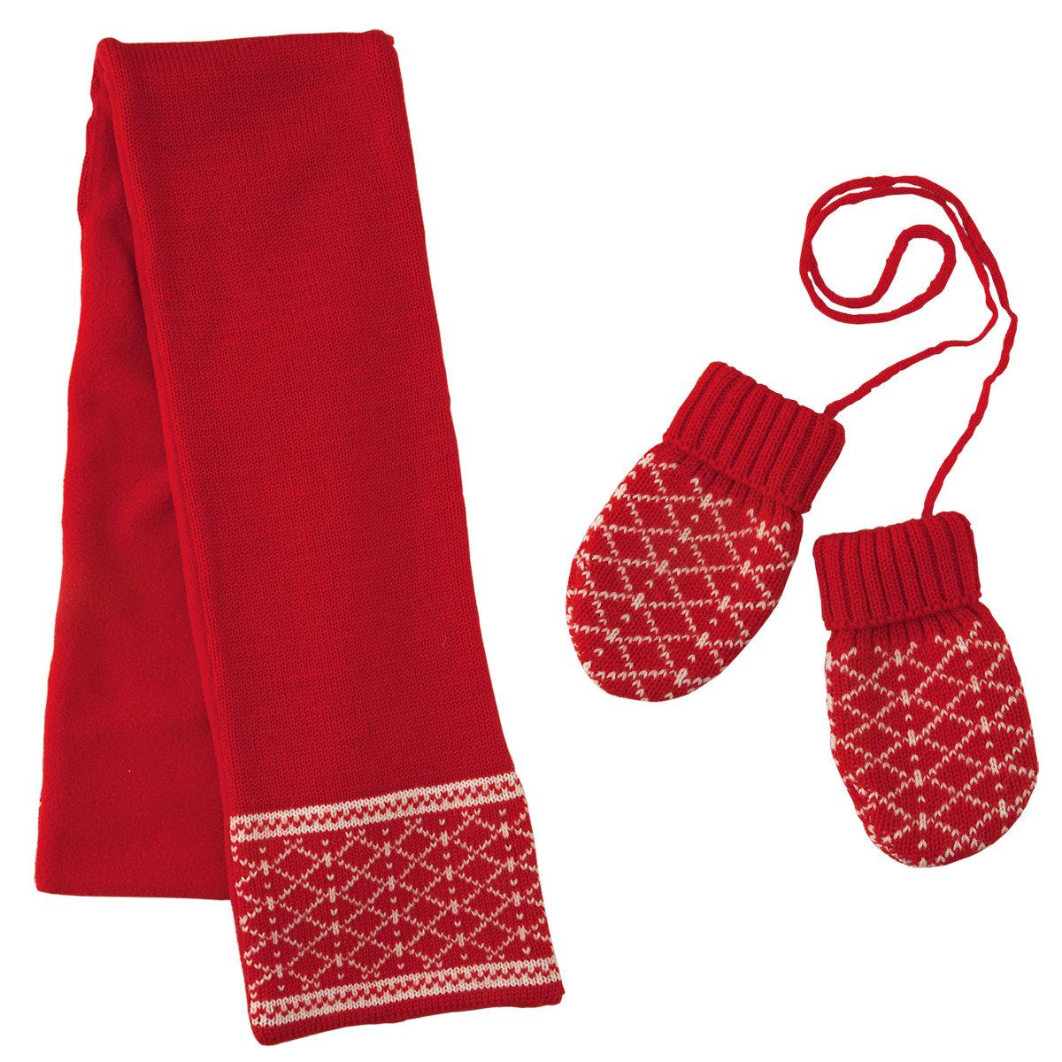 Варежки и шарф в подарок 75