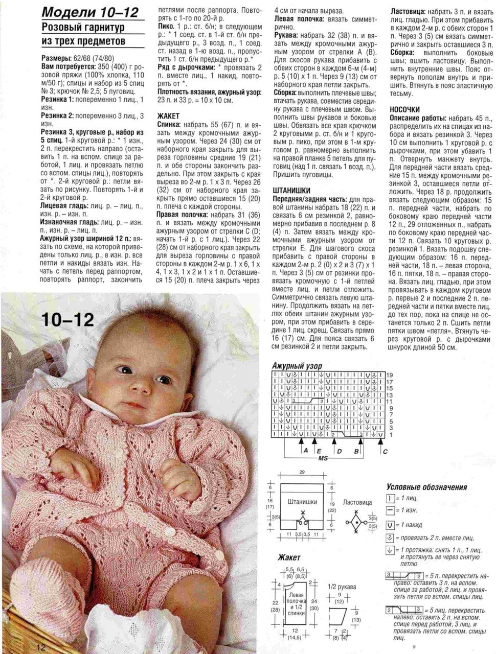 Вязание для детей от 0 до 1 года комбинезоны 56