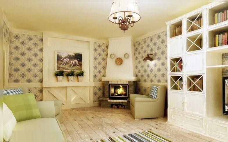 Маленькая гостиная в стиле кантри фото интерьер