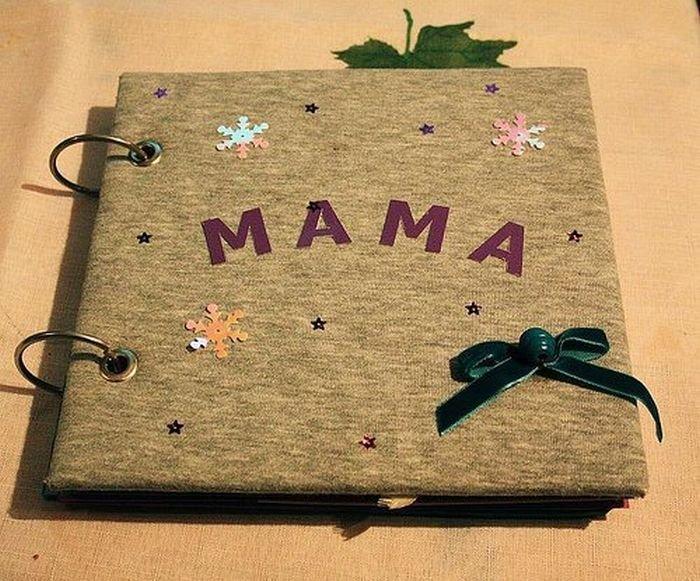 Сделать альбом в подарок маме
