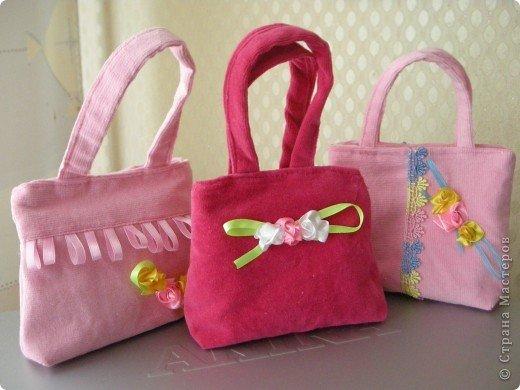 Сумки из ткани для девочки своим руками