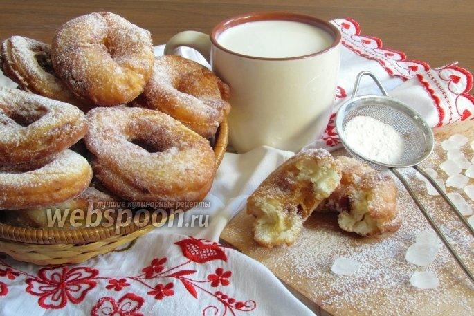 Пончики на кефире рецепт пошаговый