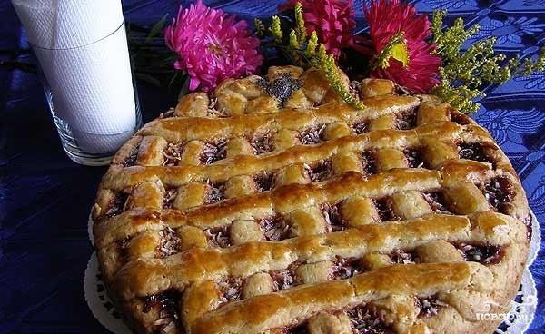 Пирог с повидлом рецепт пошагово в духовке без дрожжей