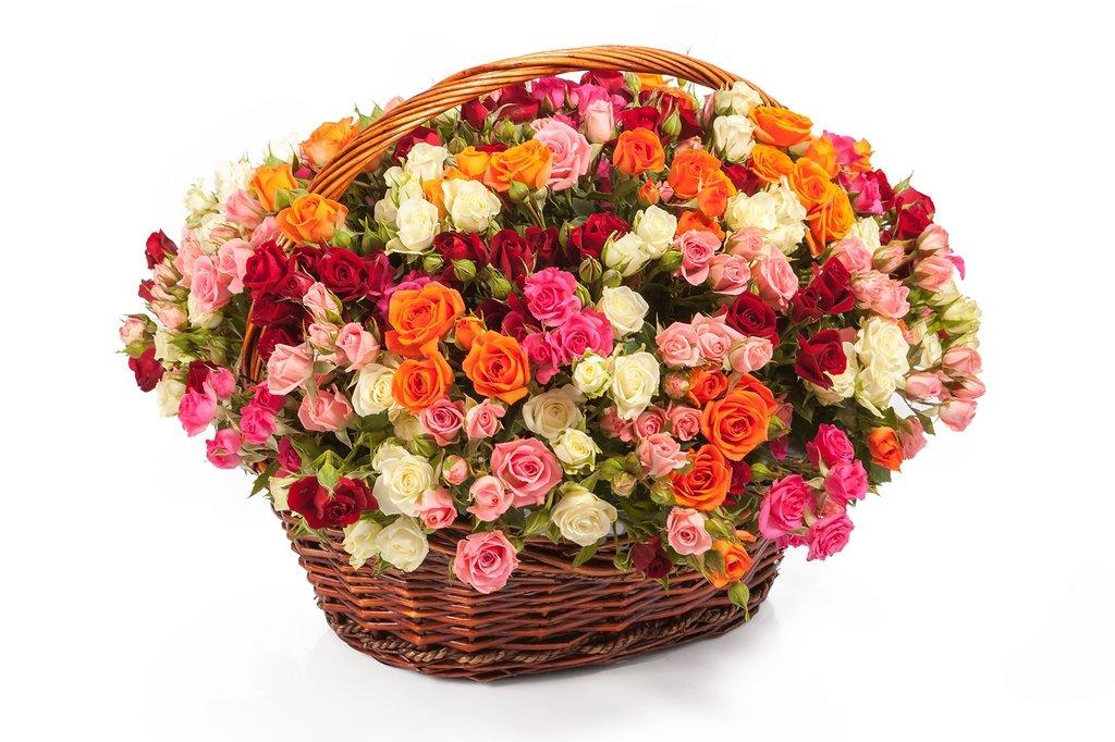 Фото цветы в корзине картинки