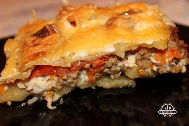 картошка с колбасой с сыром в духовке рецепт