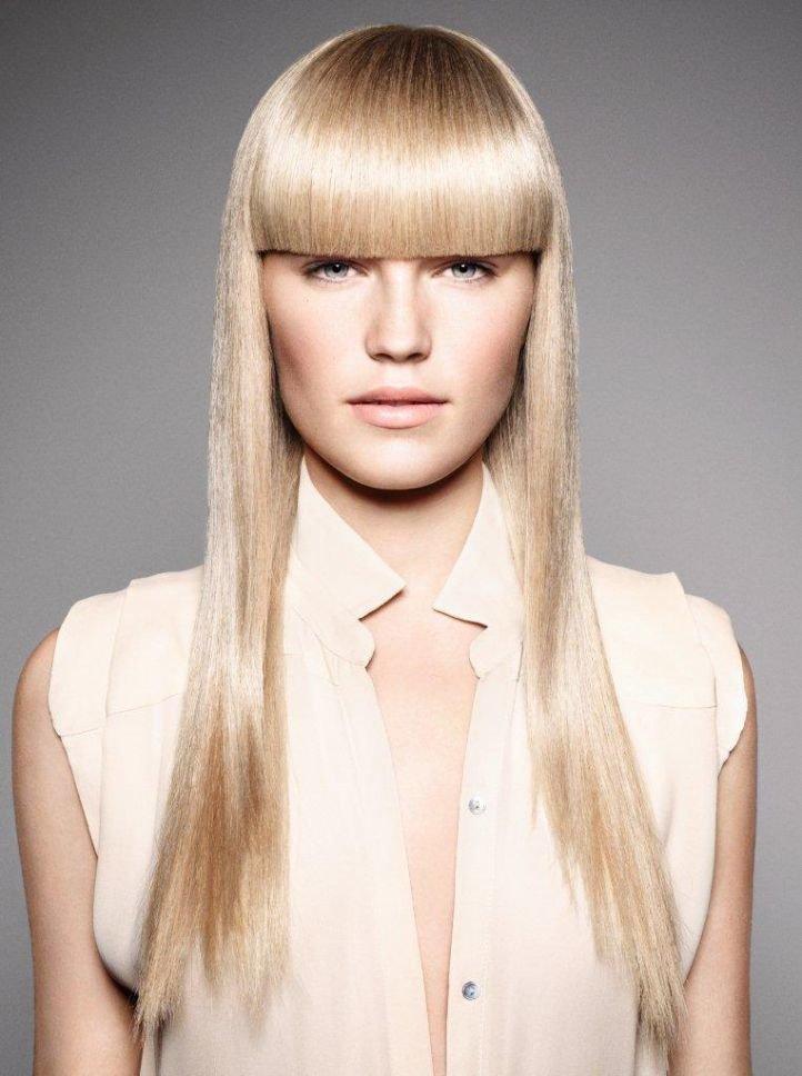 Модные причёски с прямой чёлкой