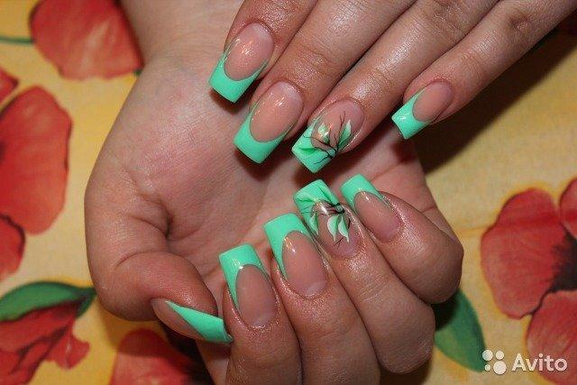Наращивание гелевых ногтей с