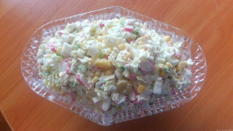 Рецепт с салата из яиц и риса