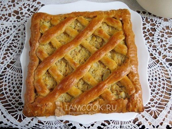Пирог с капустой без дрожжей рецепт с фото пошагово в духовке