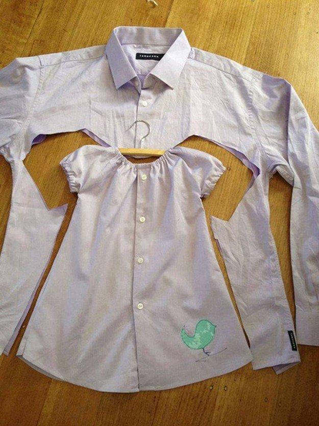 Детская одежда из мужской рубашки