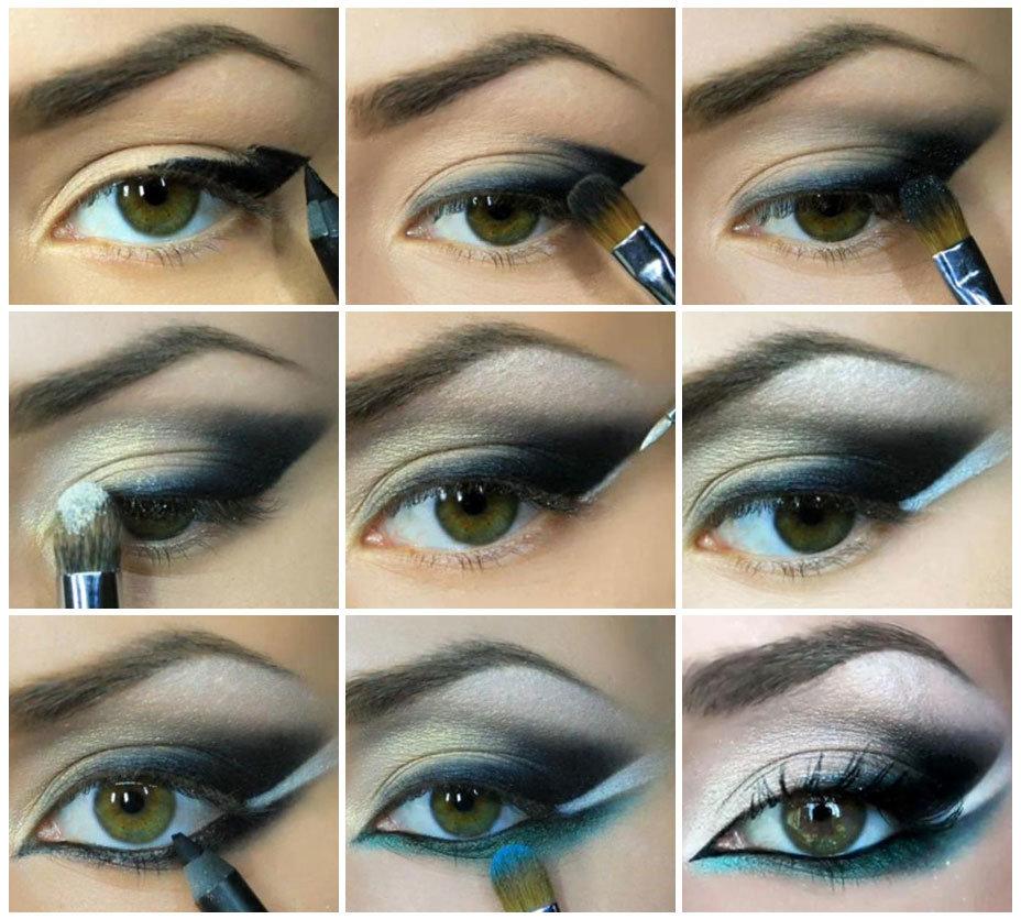 Макияж для зелено-голубых глаз и русых волос пошагово фото