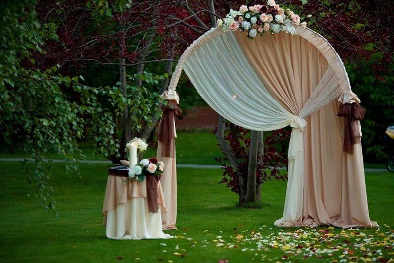 Как самой сделать арку на свадьбу 609
