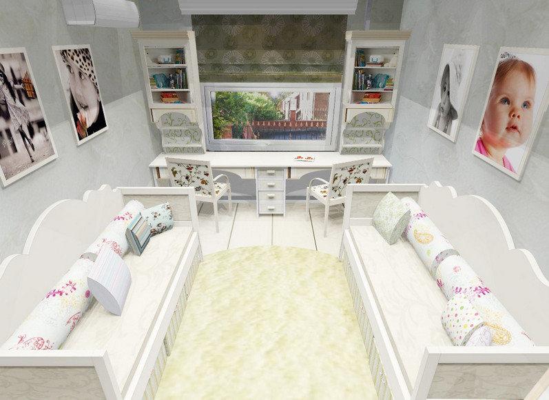 Детские комнаты дизайн для двух девочек и