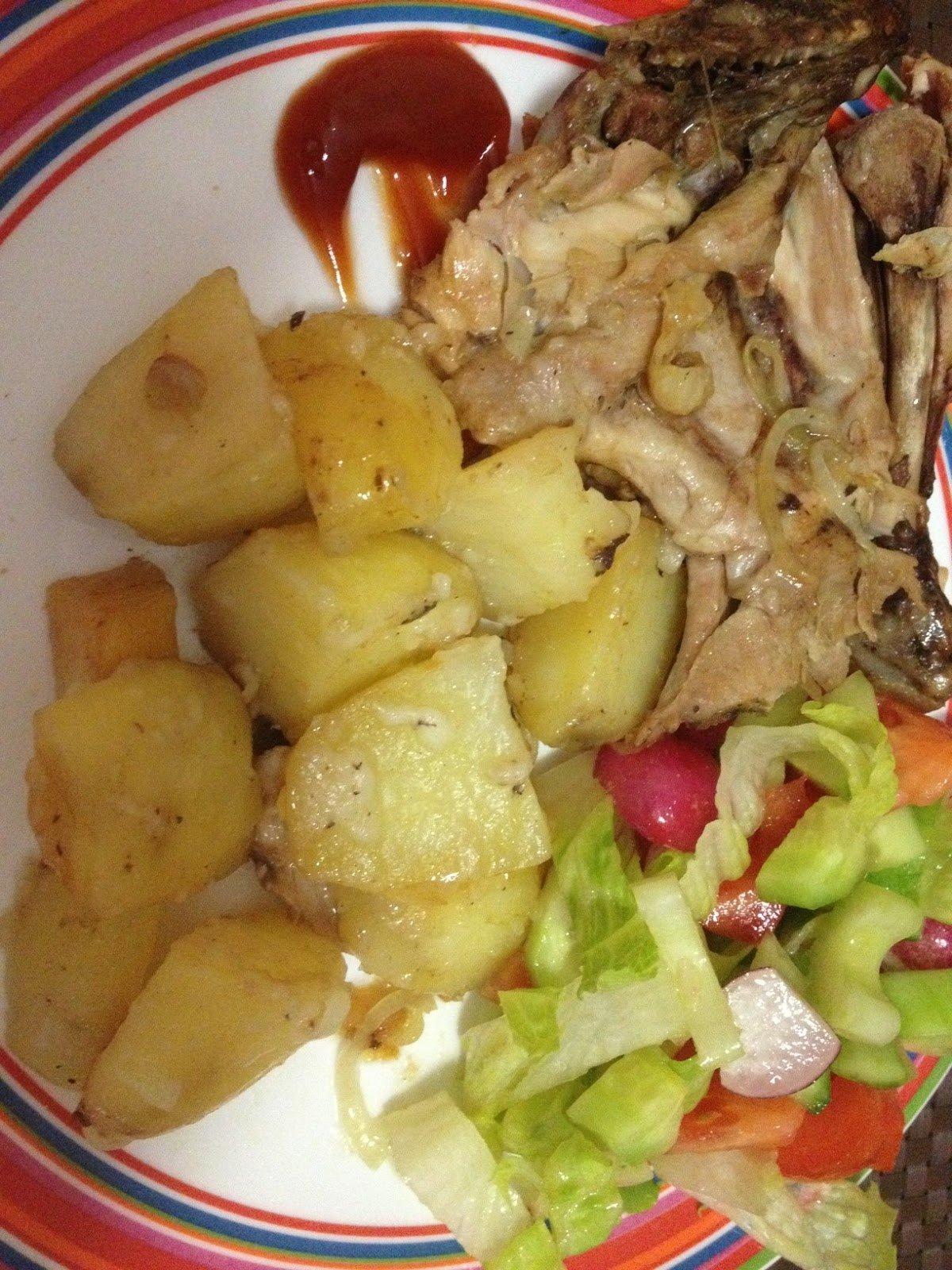 Картошка с курицей пошагово фото