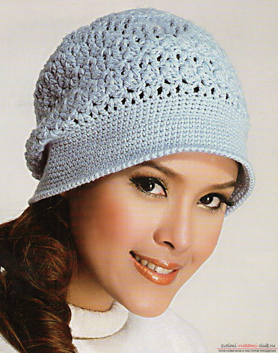 Вязание крючком шапки фото 10