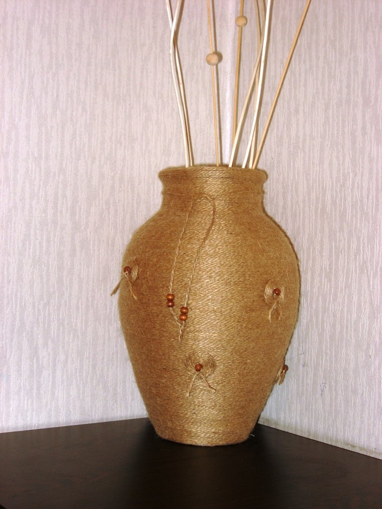 Своими руками из ваза из шпагата