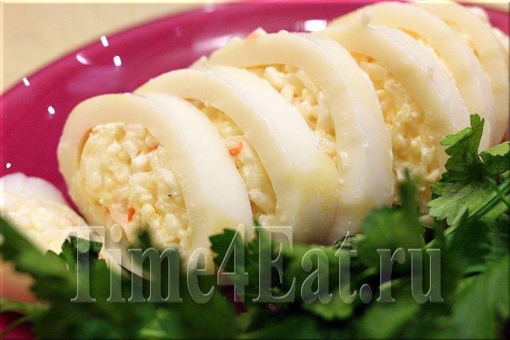 Кальмары фаршированные рецепты приготовления холодная закуска 30