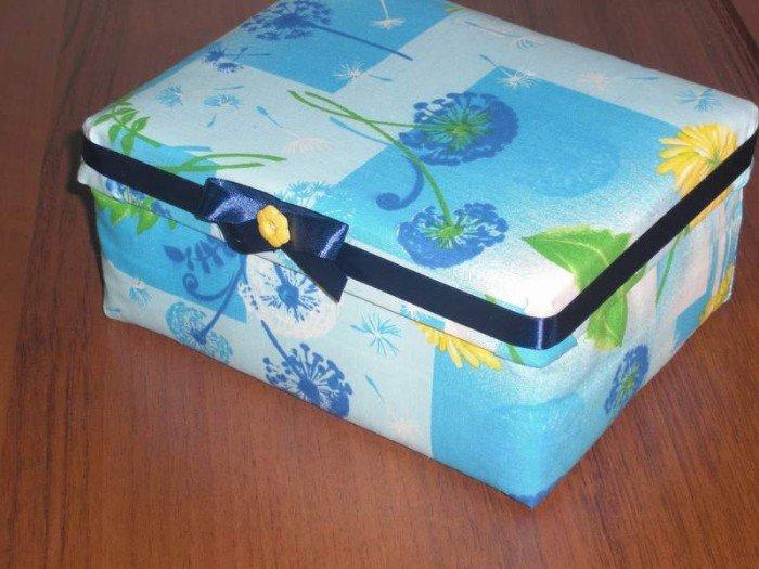 185 Как сделать из коробки сундук из под обуви