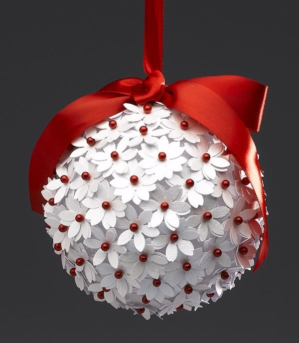 Поделки на новый год своими руками шарики из ниток
