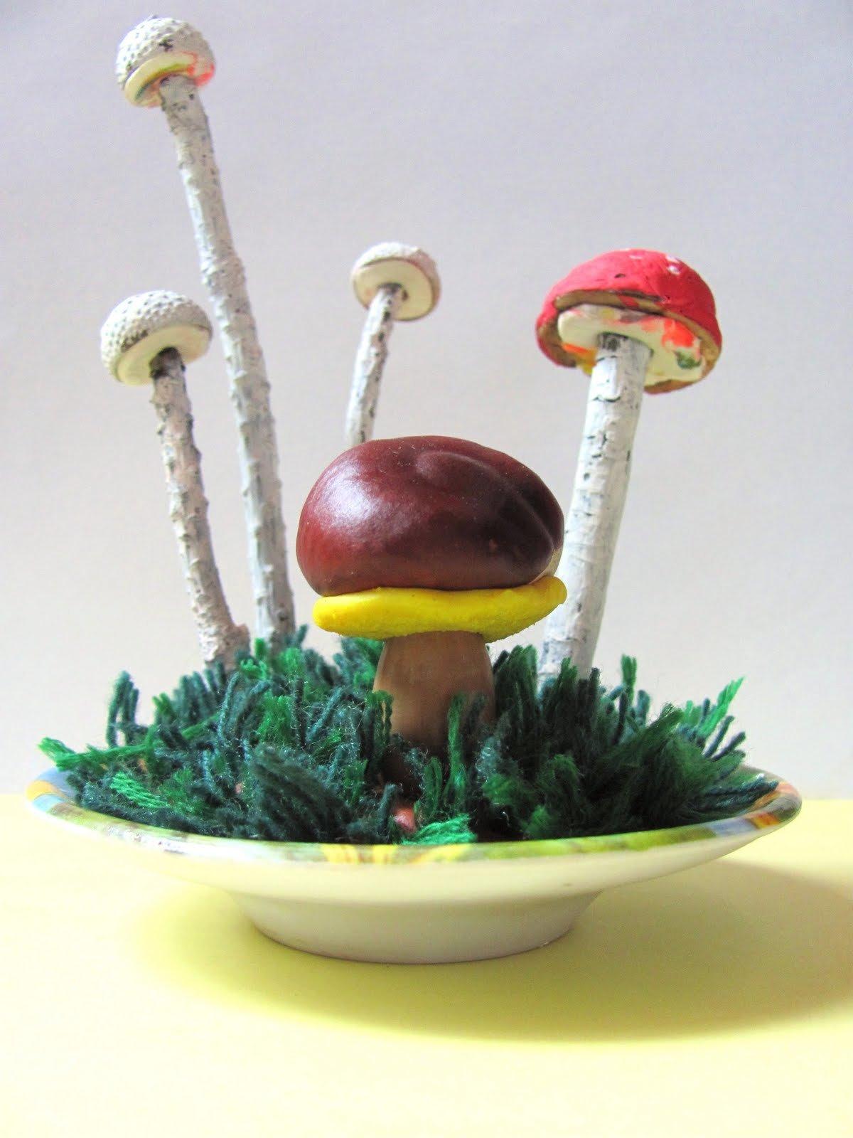 Как сделать грибы для поделки