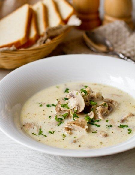 Рецепт супа сливочного с грибами