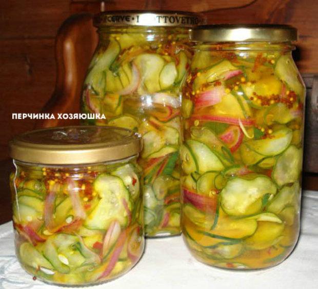 Салат из огурцов консервировать