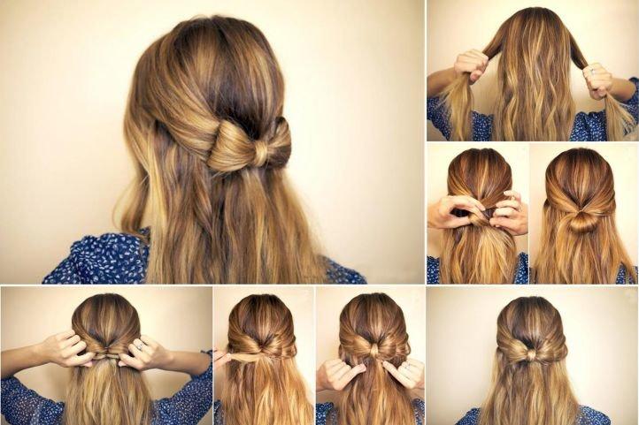 Красивая причёска на средние волосы своими руками фото