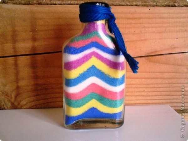 Цветной соль в бутылке своими руками