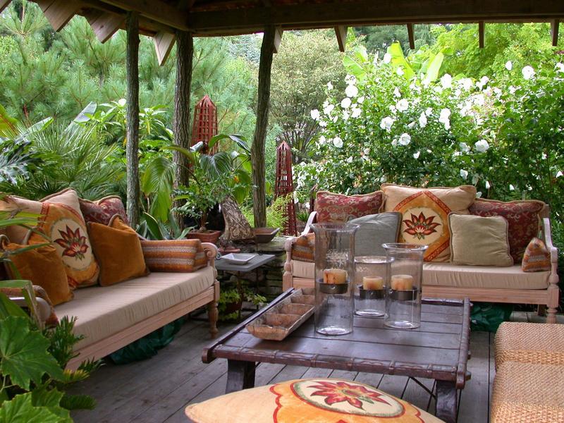 Садовый интерьер своими рук