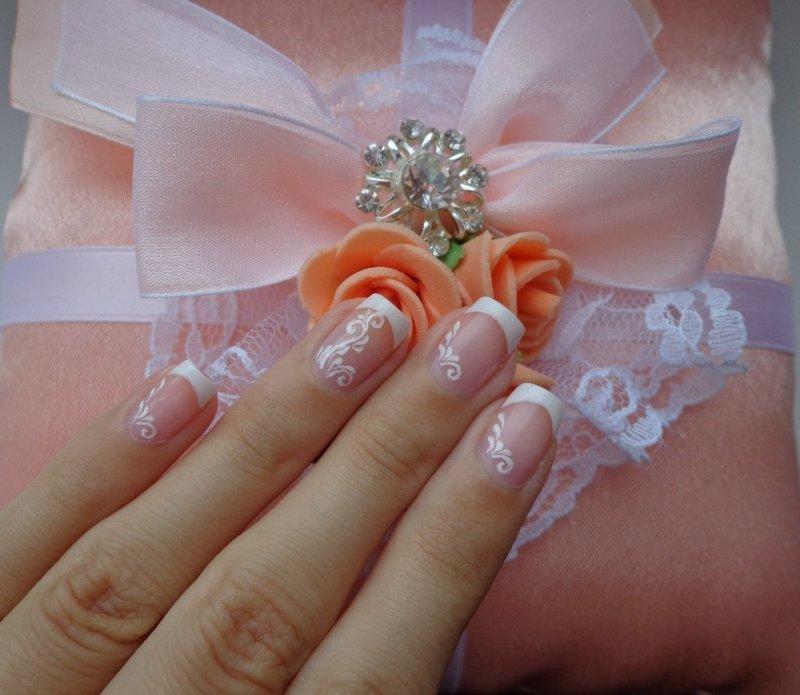 Свадебные наращивание ногтей 2016