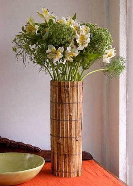 Декор деревянной вазы