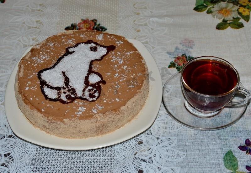Торт мишка на севере сметанный пошаговый рецепт