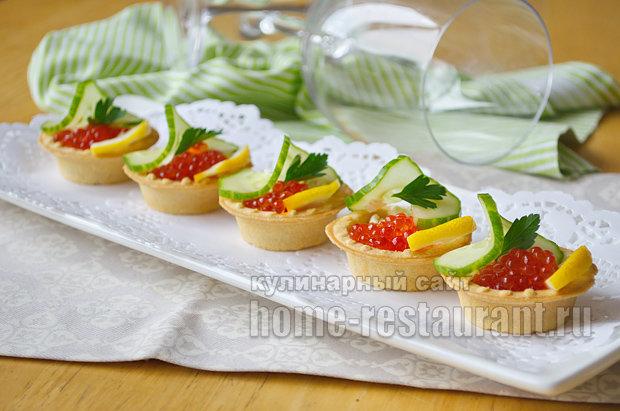 Тарталетки с начинкой и икрой рецепты