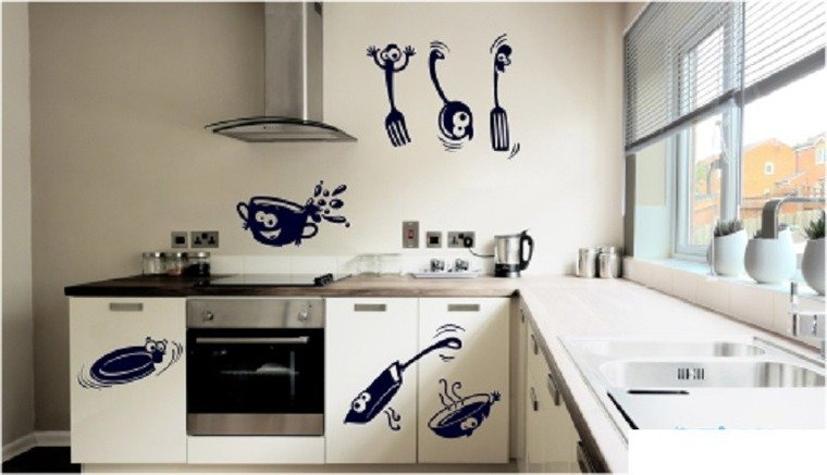 Трафареты для стен на кухне своими руками 273