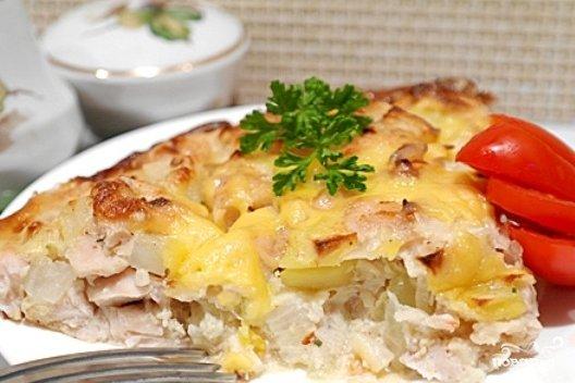 Картофельная запеканка с курицей в мультиварке рецепты с фото
