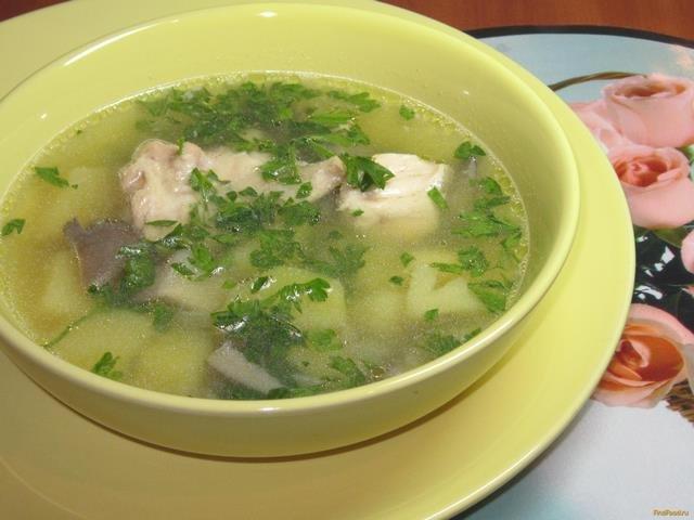 Куриный суп с вешенками рецепт с фото