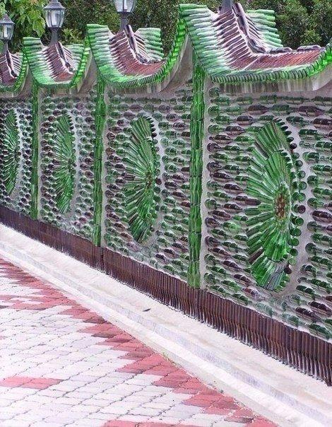 Стеклянный забор своими руками 308
