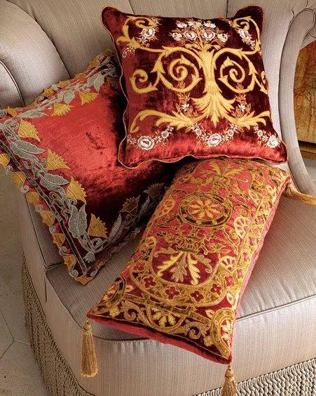 Декоративные подушки своими руками в восточном стиле 91